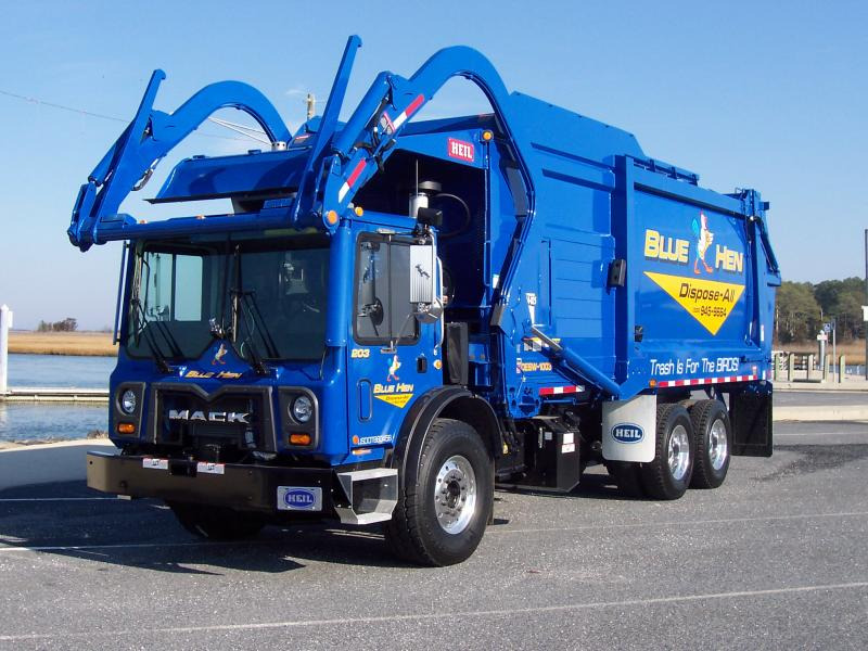 Blue Hen Disposal Commercial Waste Truck
