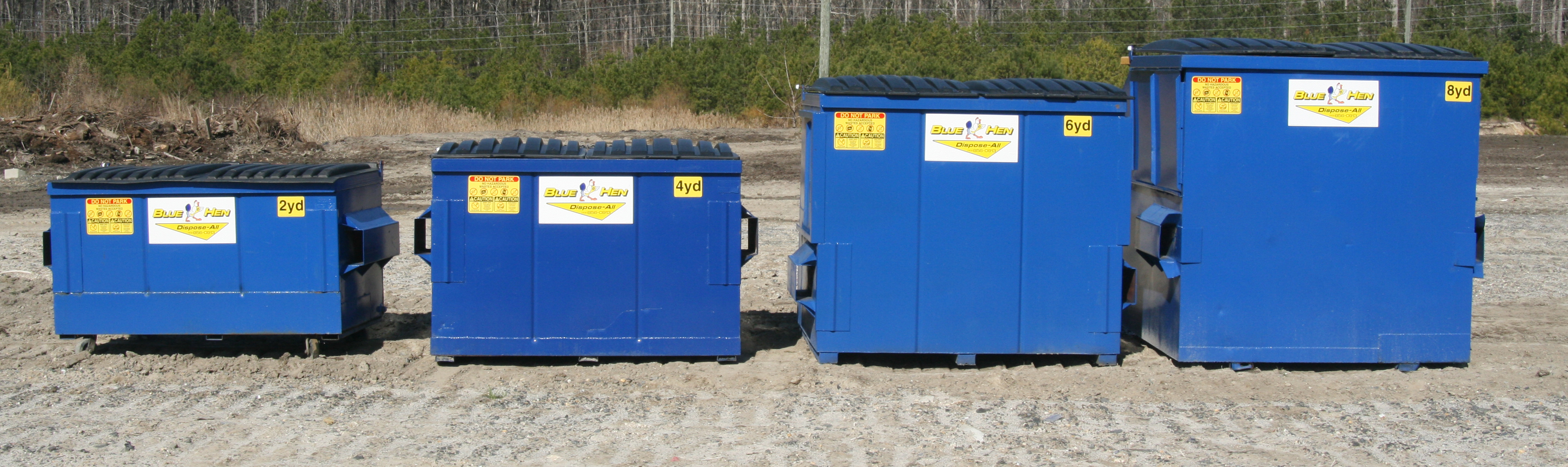 Front Load Commercial Trash Disposal Containers